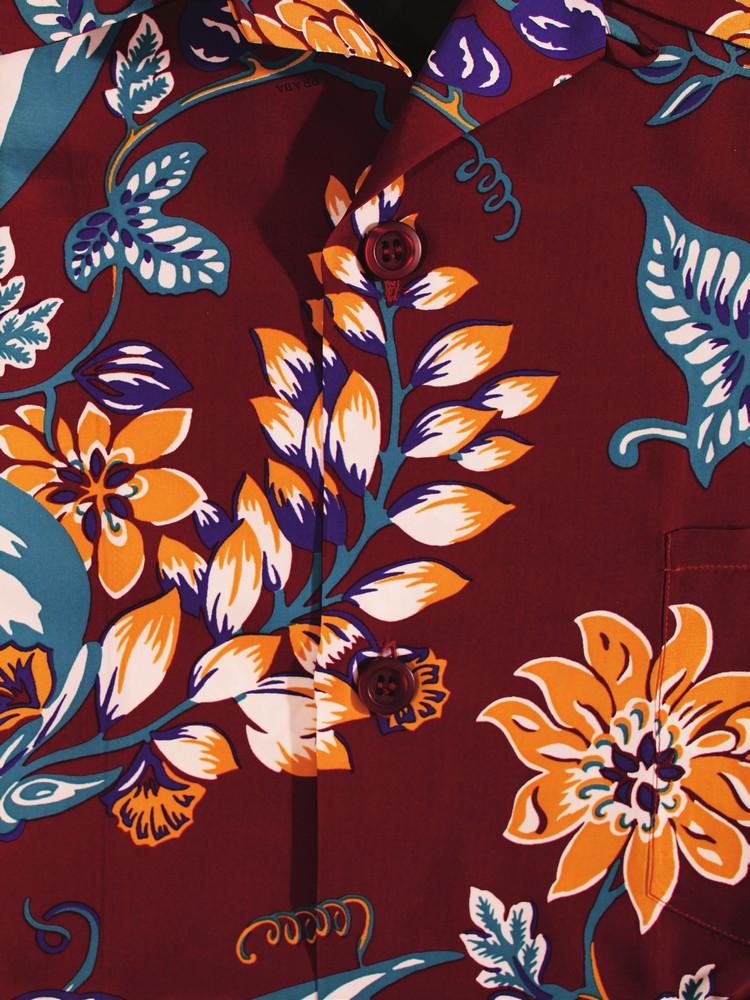 silk pongee shirt PRADA opposite page: cotton batik shirt MARK MCNAIRY NEW AMSTERDAM