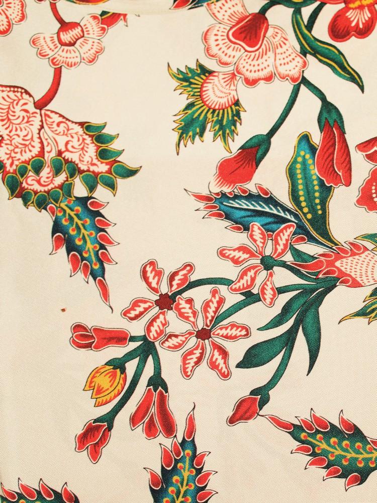 ornamental flower sport shirt GUCCI opposite page: cotton floral shirt DRIES VAN NOTEN