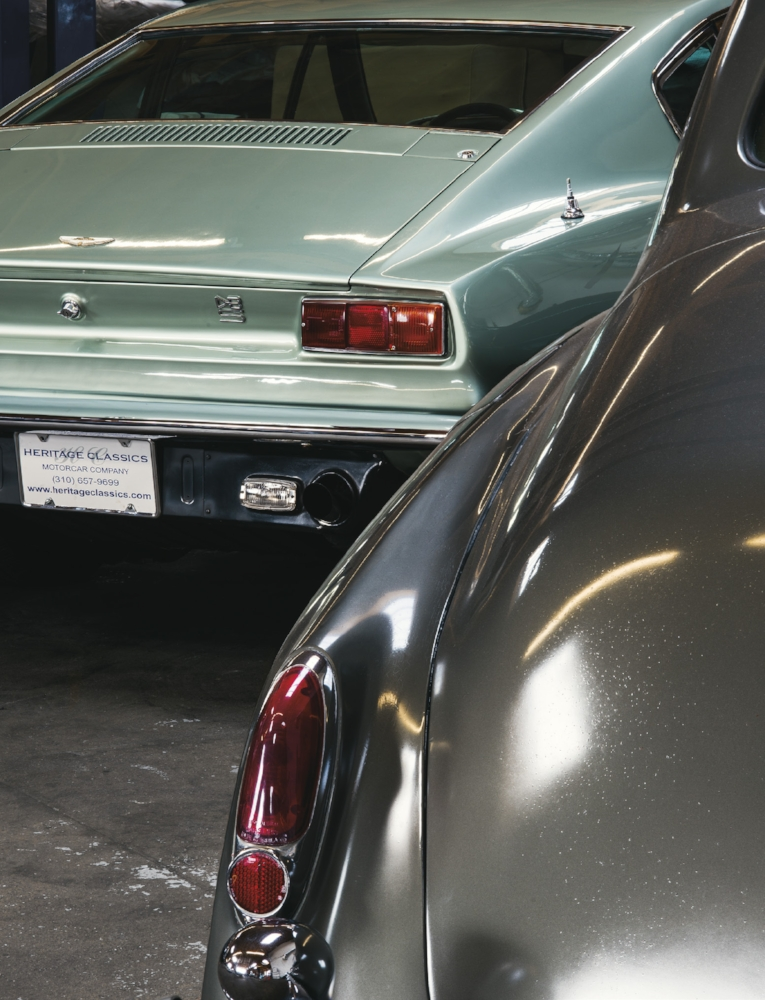 Left to right: 1970 ASTON MARTIN DBS V8 Coupe  1962 ROLLS-ROYCE Silver Cloud II