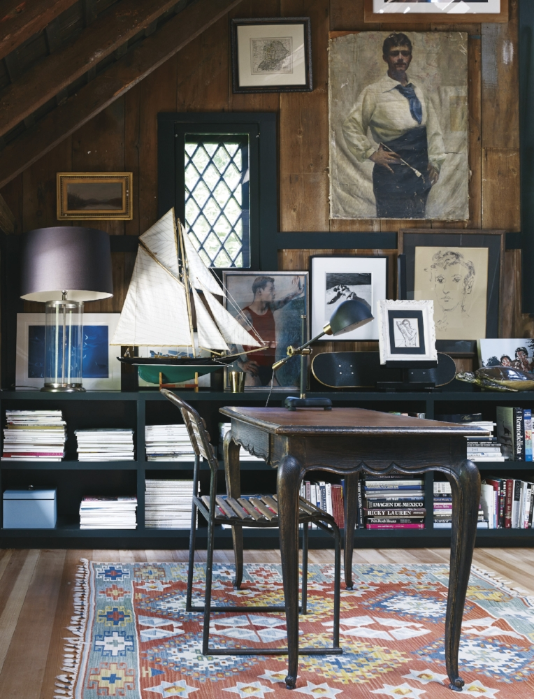 Once a hayloft, then a bedroom, now a study.