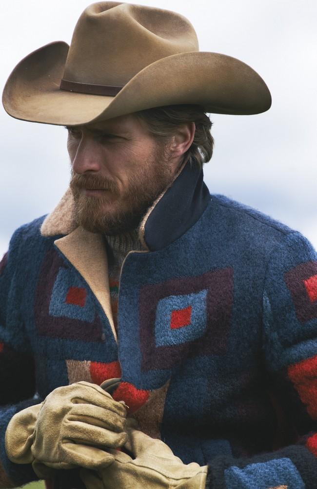 wool jacket and sweater VALENTINO, hat STETSON