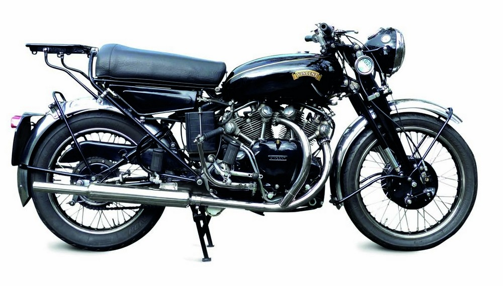 1955 Vincent 998cc Black Shadow Series D At a time when the average family sedan could barely top 70 mph, the Black Shadow's top speed of 125 mph made it the fastest road vehicle of its day.