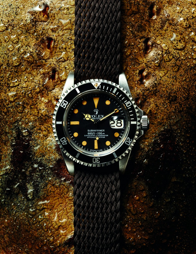 VINTAGE ROLEX SUBMARINER Ref.: 1680. Mid-1970s. Oyster. Steel. 40 mm.  available at manoftheworld.com