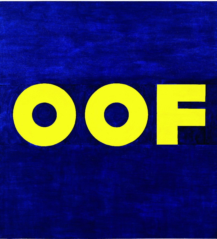 OOF, 1962 (reworked 1963), oil on canvas, 711/2 x 67 inches 83 Courtesy of the Metropolitan Museum of Art and Gagosian Gallery. © Ed Ruscha