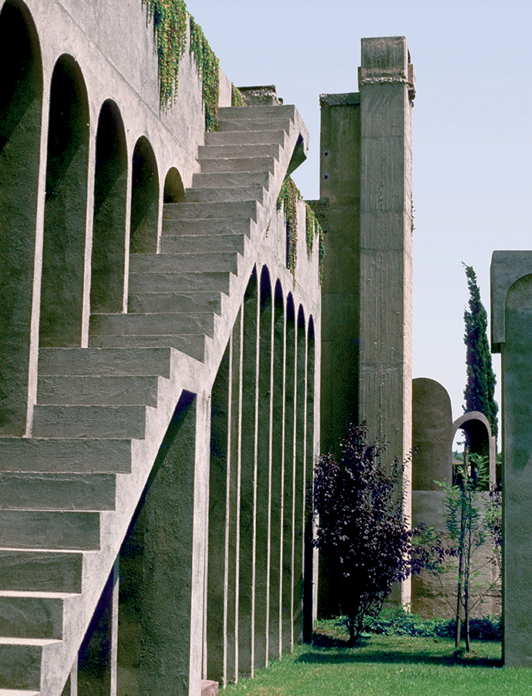 Surreal elements from the original structure, including stairs that lead to nowhere, were deliberately left intact.