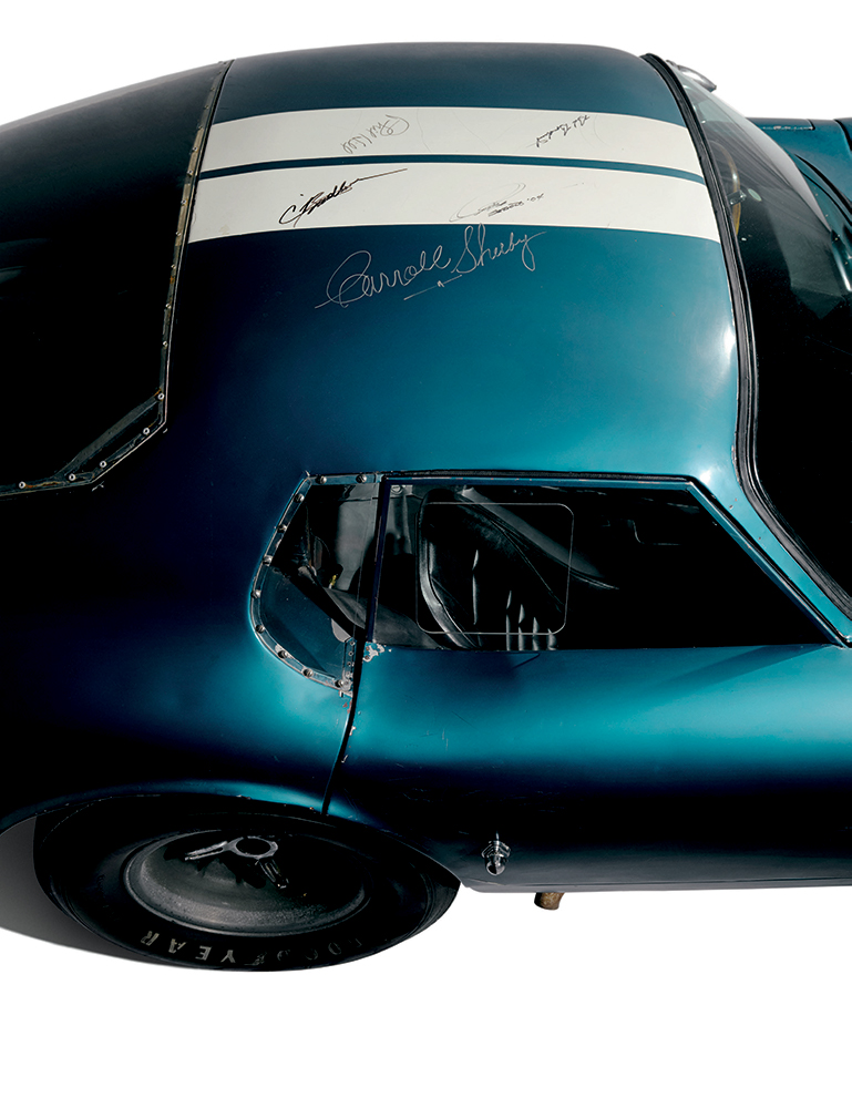 Carroll Shelby, Craig Breedlove, and others left their mark on CSX2287 over the years.