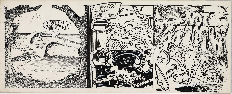 Jim Evans Surf Jam, 1967 Ink on museum board