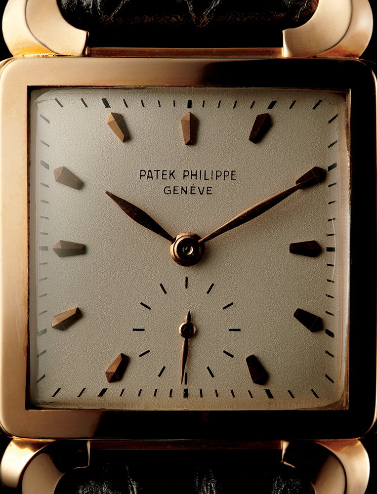 """Patek Philippe 2423 """"Horned Lugs"""" in rose gold. 1950, available through Man of the World"""