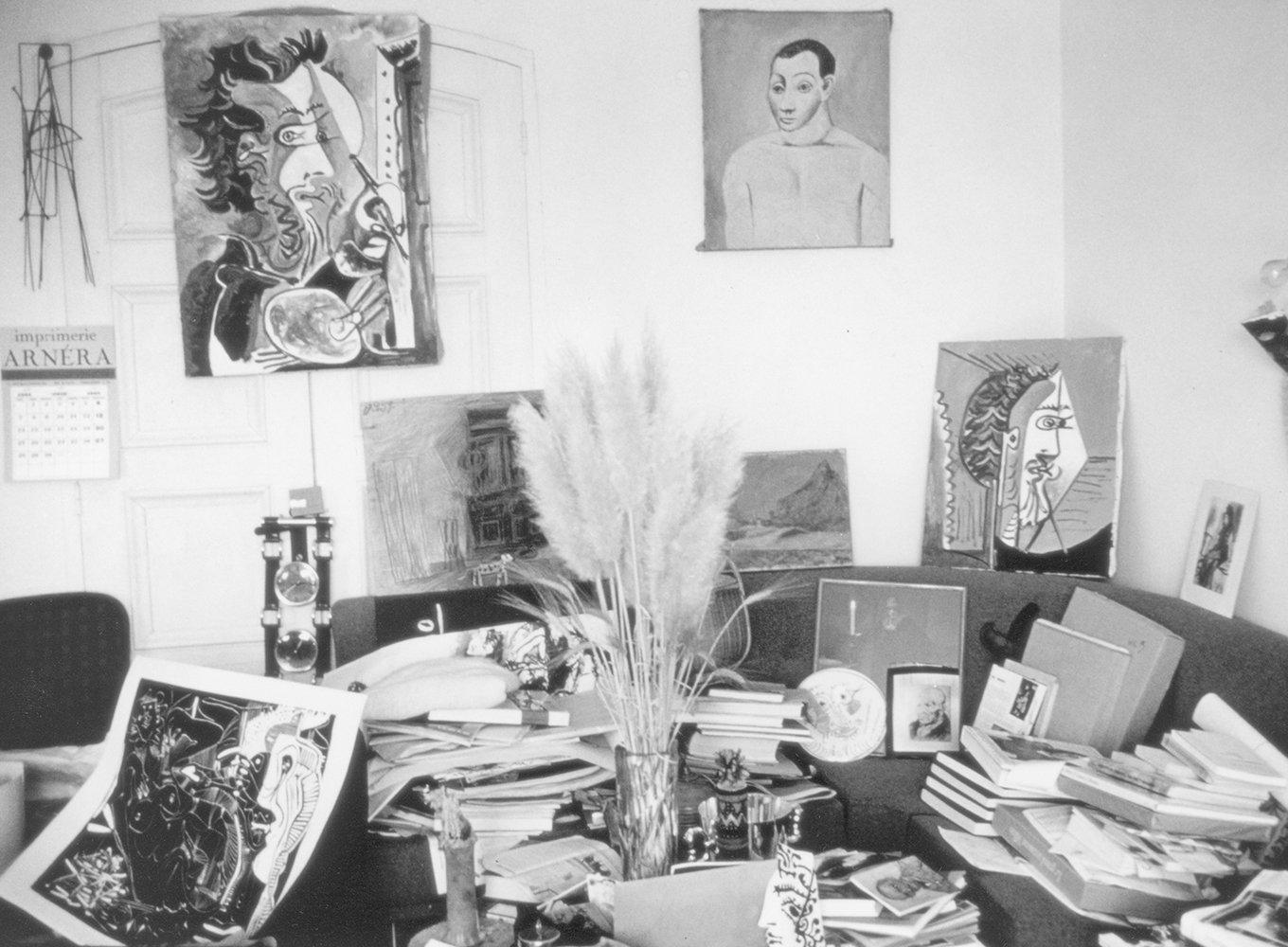 Pablo Picasso's studio – Photo by  Alexander Liberman