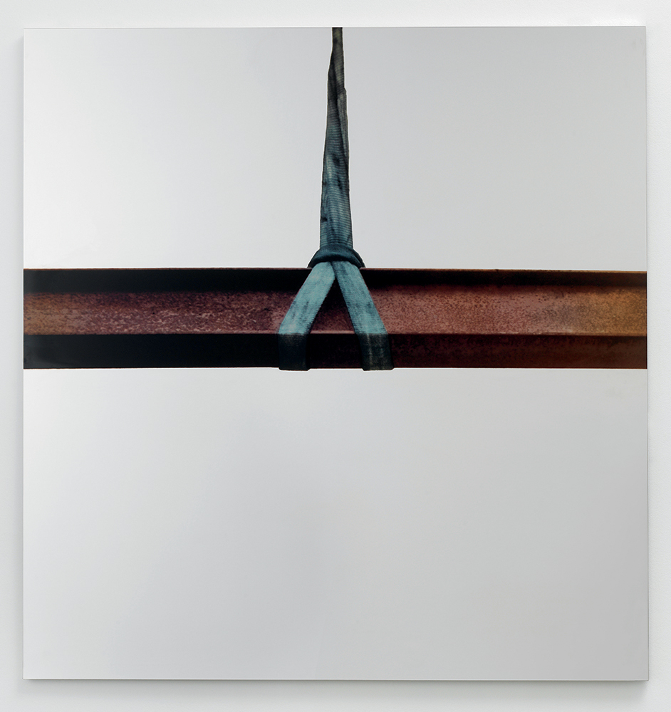 Trave di Ferro, 2008-2011 Silkscreen on polished super mirror stainless steel 59 x 59 in. (150 x 150 cm)
