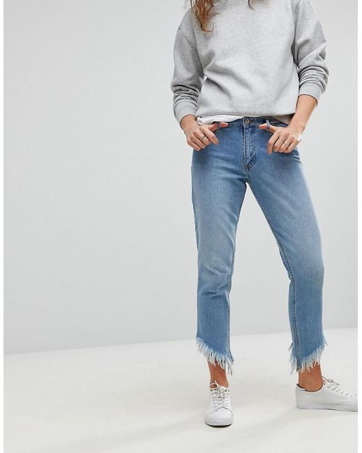 only-blue-Straight-Leg-Frayed-Jeans.jpeg