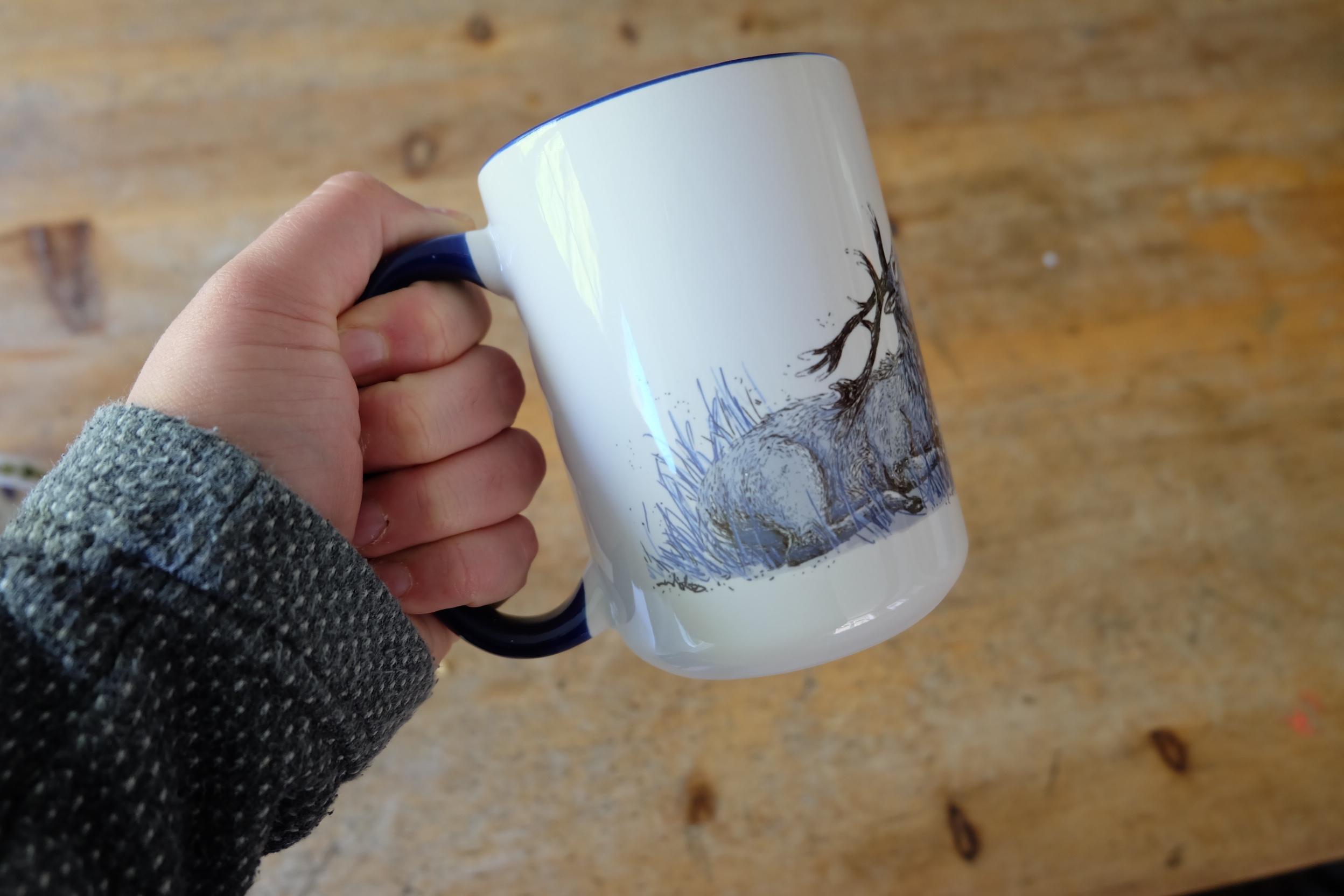 Mug handle size ergonomics