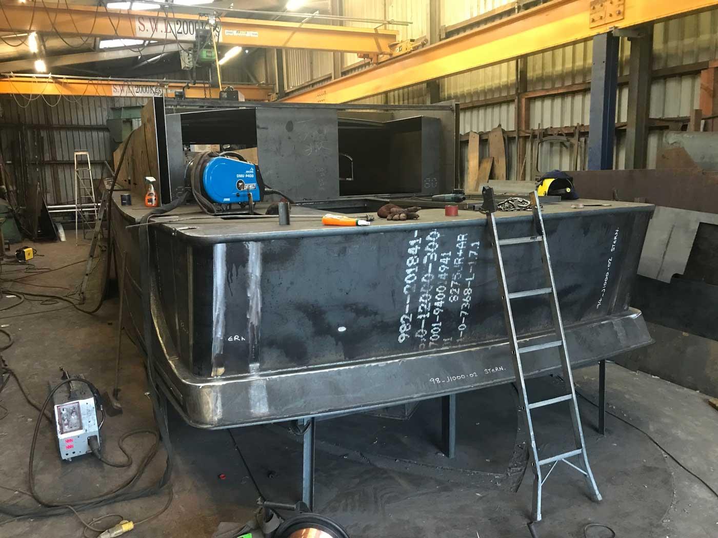 steel-boat-kit-being-built