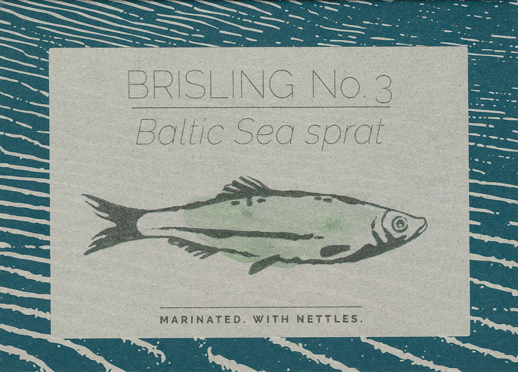 Baltic Sea sprat no. 3. Marinated. With nettles OUT OF STOCK