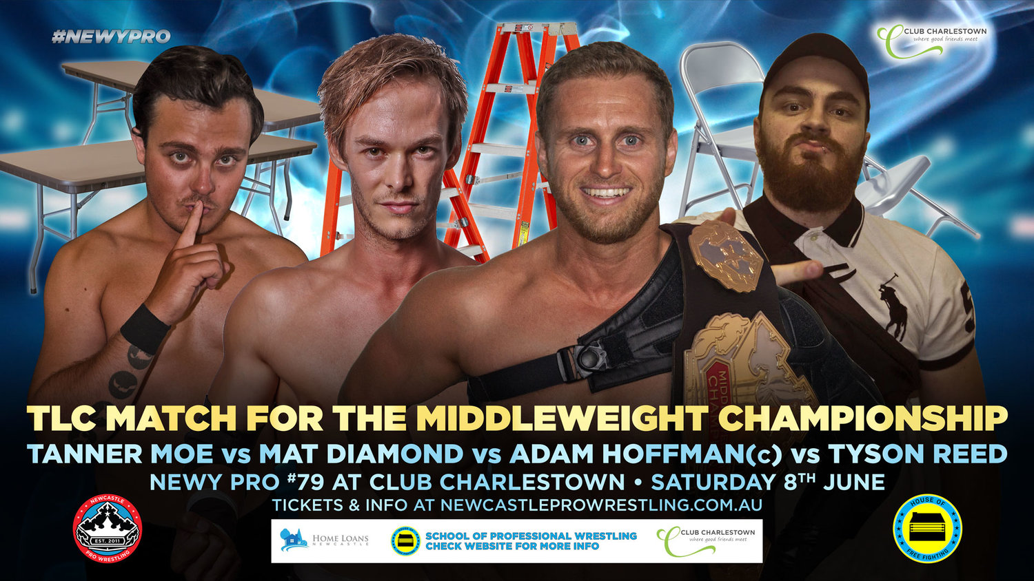 "Newy Pro Show- TLC Preview - Preview of the TLC (tables, ladders and chairs) match.A brief and polite chat with the ""Professor"" Adam Hoffman.Buy tix, merch, and learn the wrestler's names here.Ask a personal question here. Your perverse curiosity funds this show."
