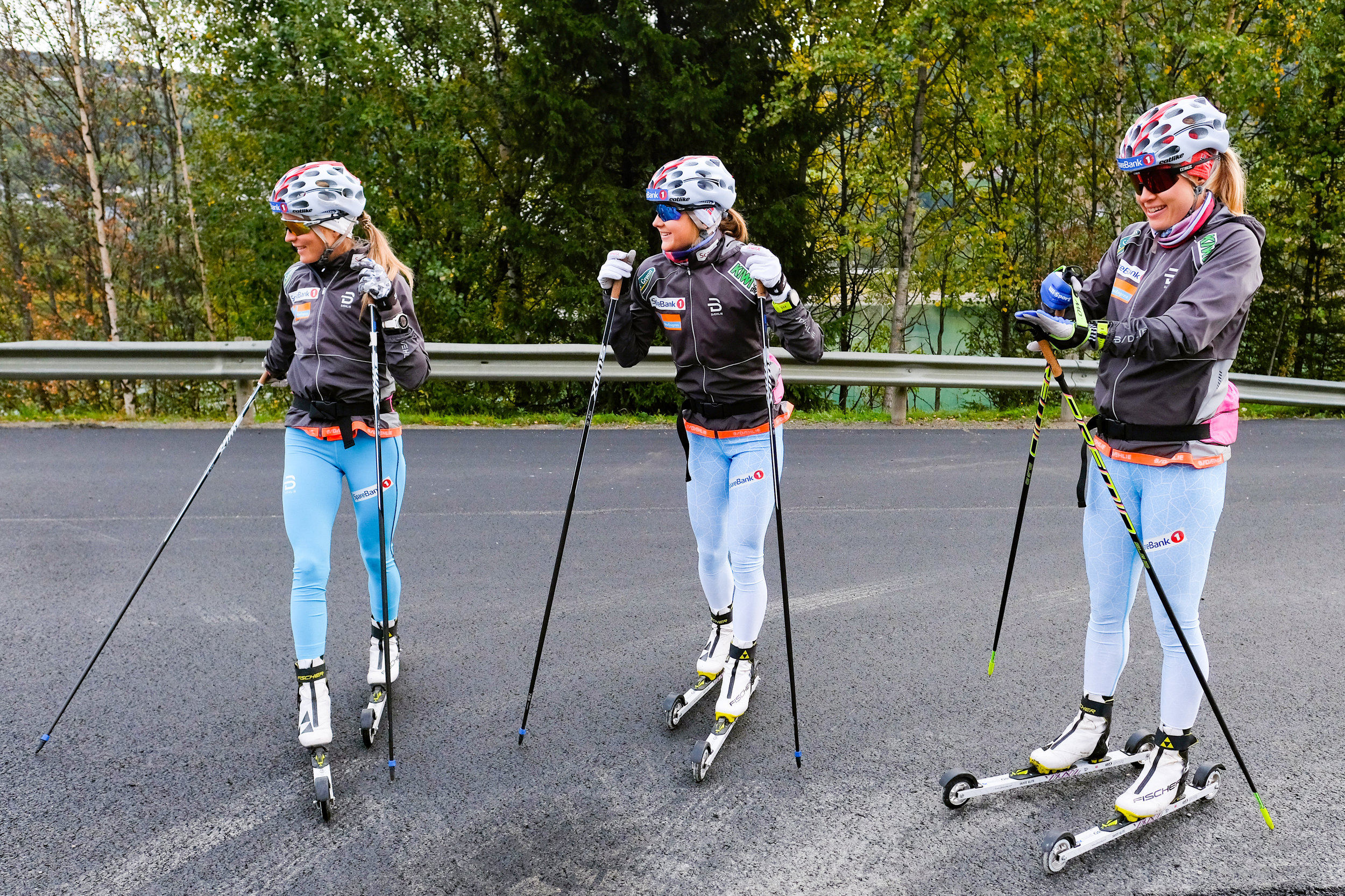 Therese Johaug (f.v.), Ingvild Flugstad Østberg og Ragnhild Haga. Foto: Fredrik Hagen / NTB Scanpix