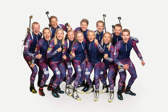 Landslagene i skiskyting er klare. Foto: Norges Skiskytterforbund