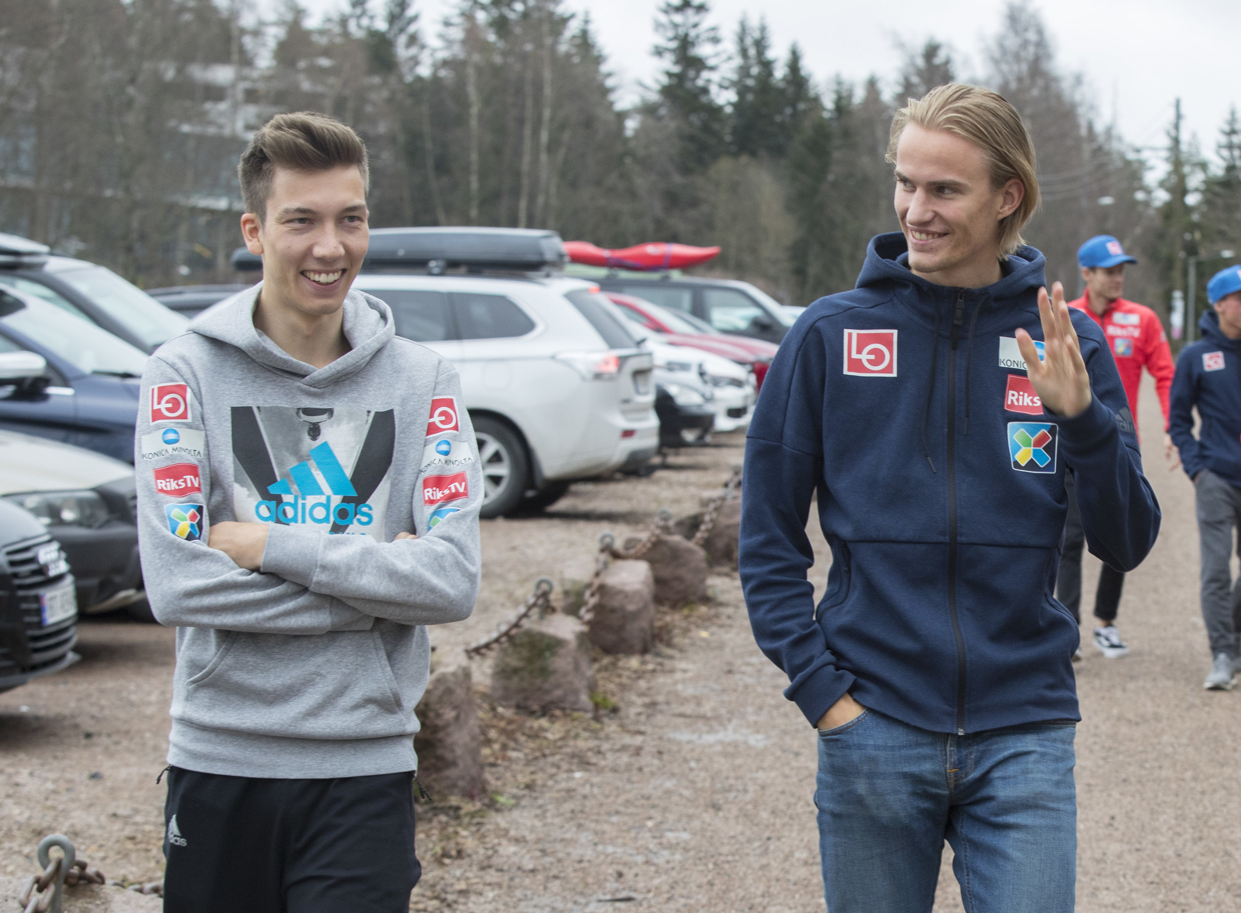 Johann André Forfang og Daniel André Tande. Foto: Vidar Ruud / NTB Scanpix