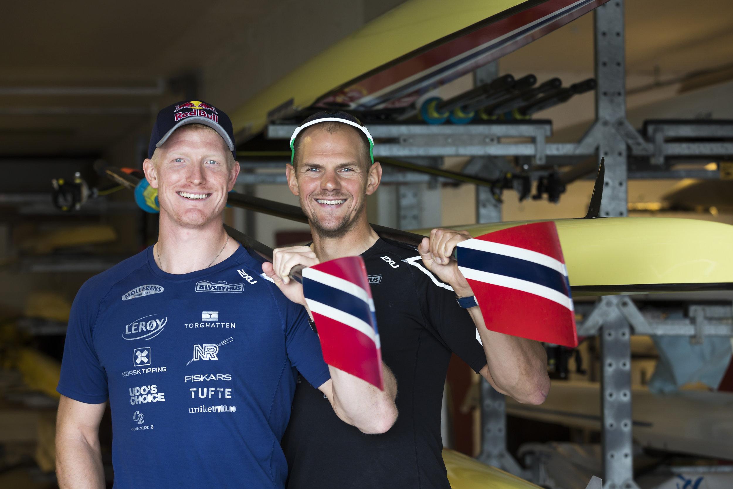 Kjetil Borch (t.v.) og Olaf Tufte var en av fire norske bronsevinnere i OL i 2016. Norge tok null gull. FOTO: Cornelius Poppe/NTB scanpix