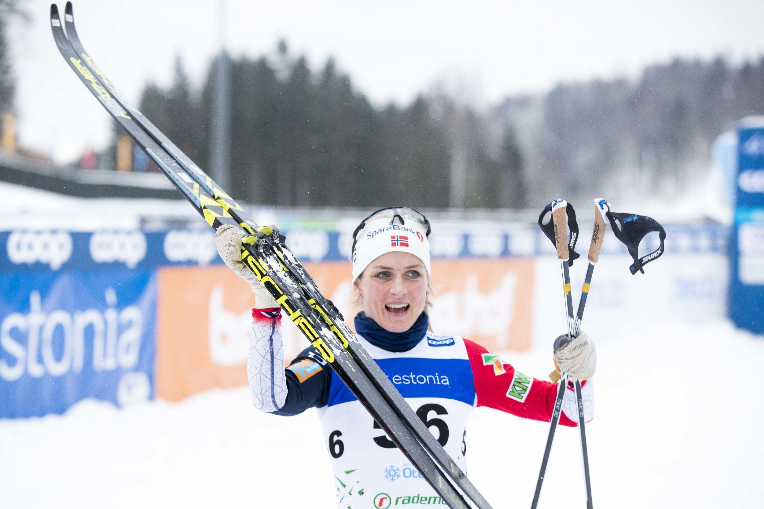 Otepää, Estland 20190120. Therese Johaug vinner under 10 km klassisk kvinner i Otepää søndag. Foto: Terje Pedersen / NTB scanpix