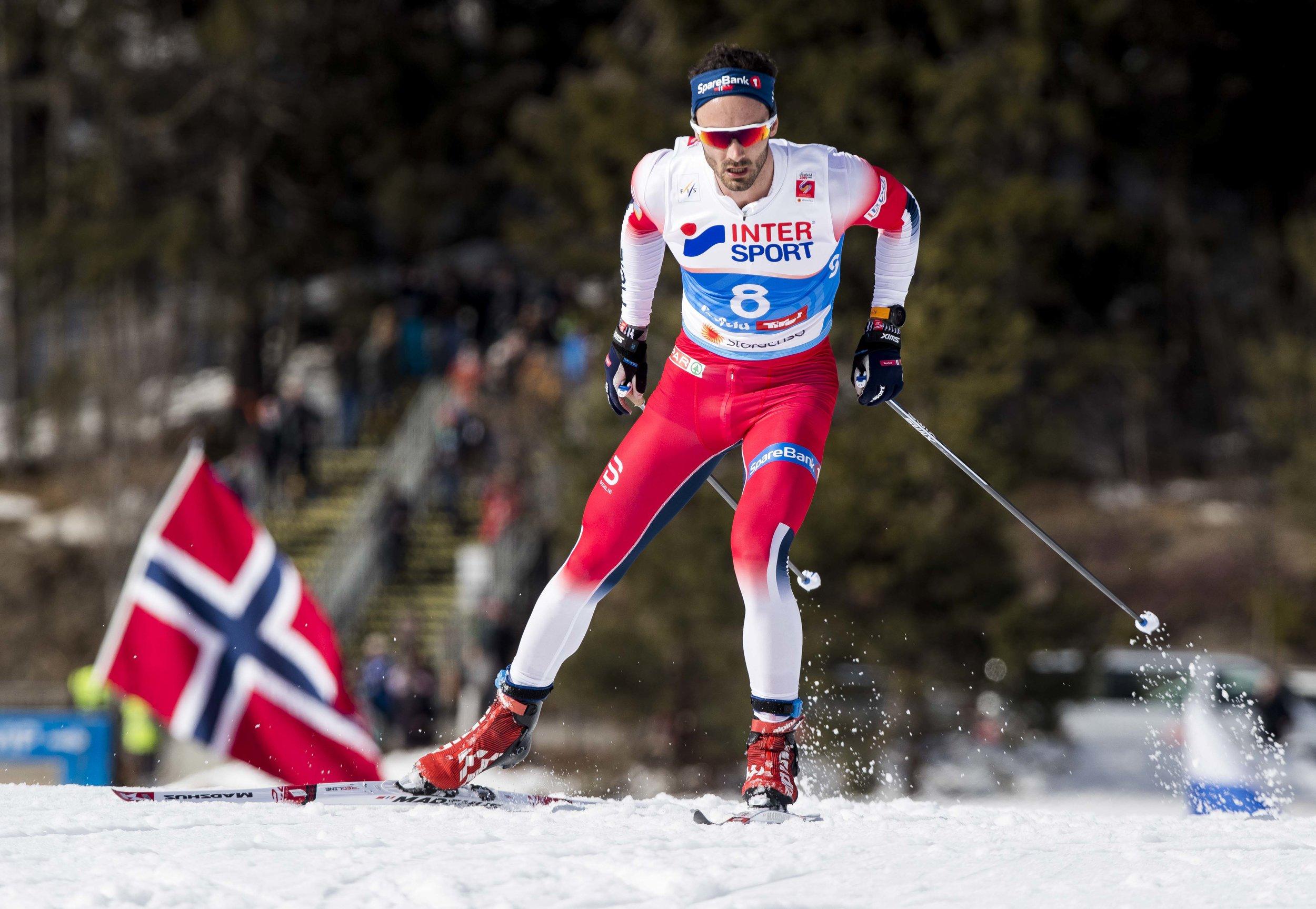 Hans Christer Holund vant den siste øvelsen i ski-VM, 50km for menn. FOTO: Terje Pedersen/NTB scanpix