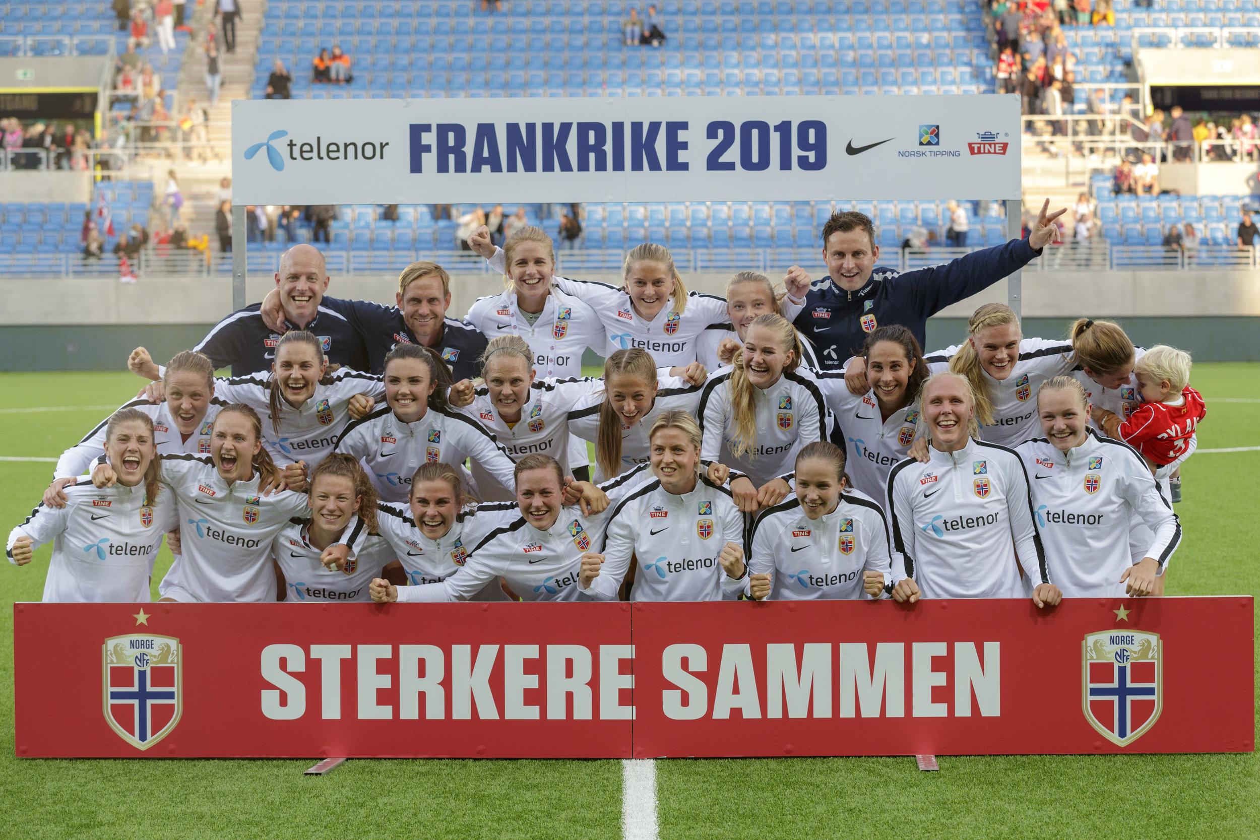 Dette var laget som kvalifiserte Norge til VM i fjor høst. FOTO: Cornelius Poppe/NTB scanpix