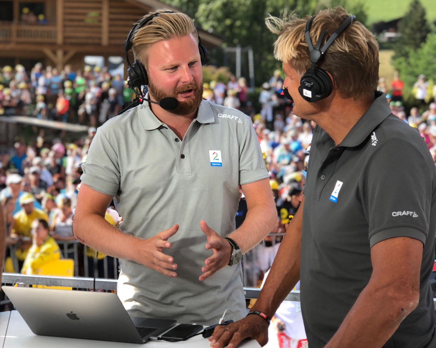 Marius Skjelbæk sammen med Dag Otto Lauritzen.