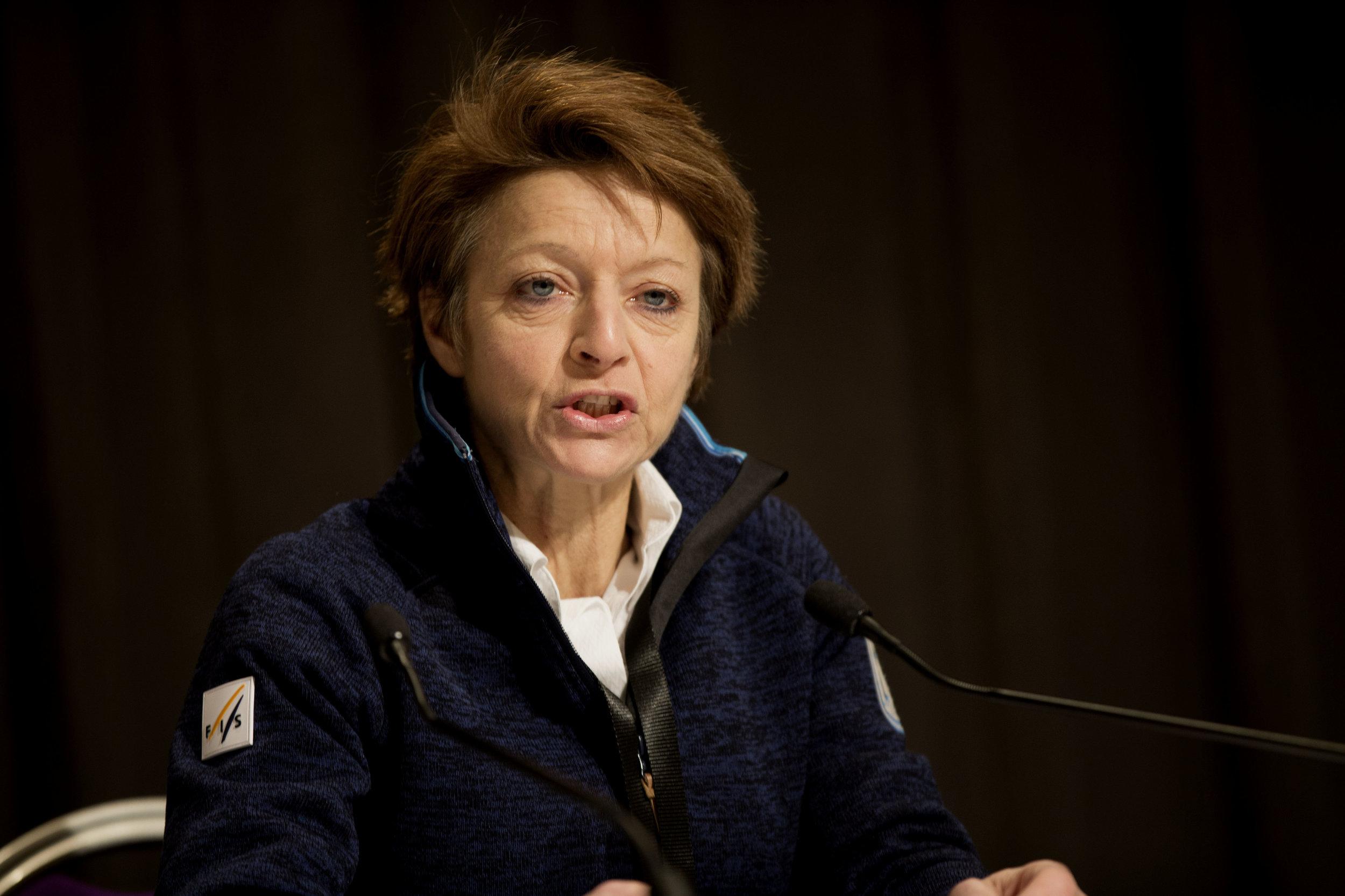 Sarah Lewis er generalsekretær i det internasjonale skiforbundet FIS. FOTO: Geir Olsen/NTB scanpix