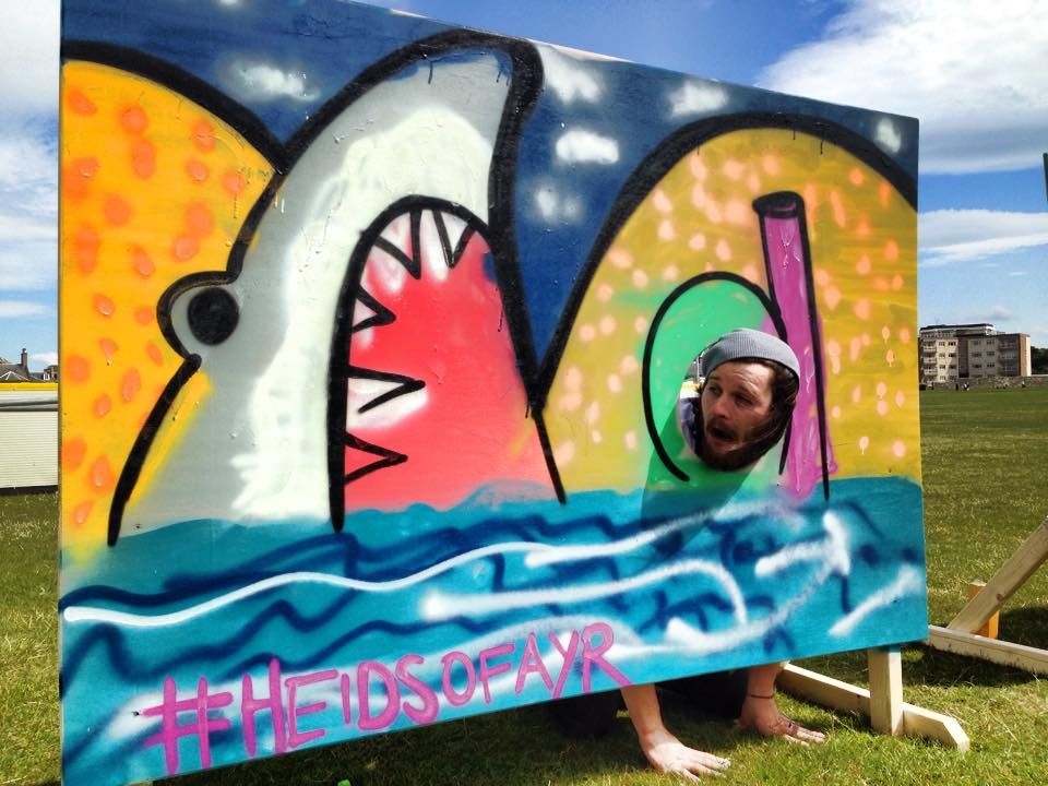 graffiti workshops ayrshire beach