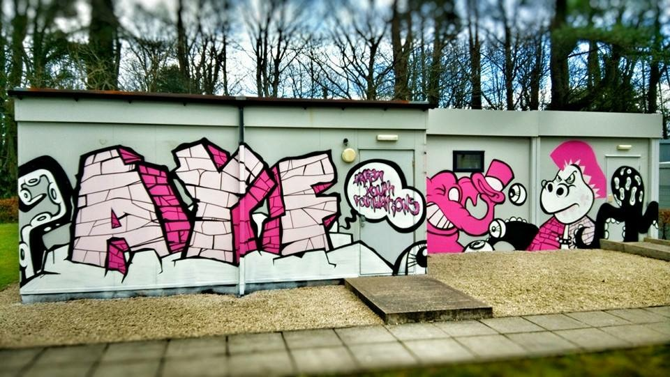 Graffiti Workshop with the young people of Arran ayrshire