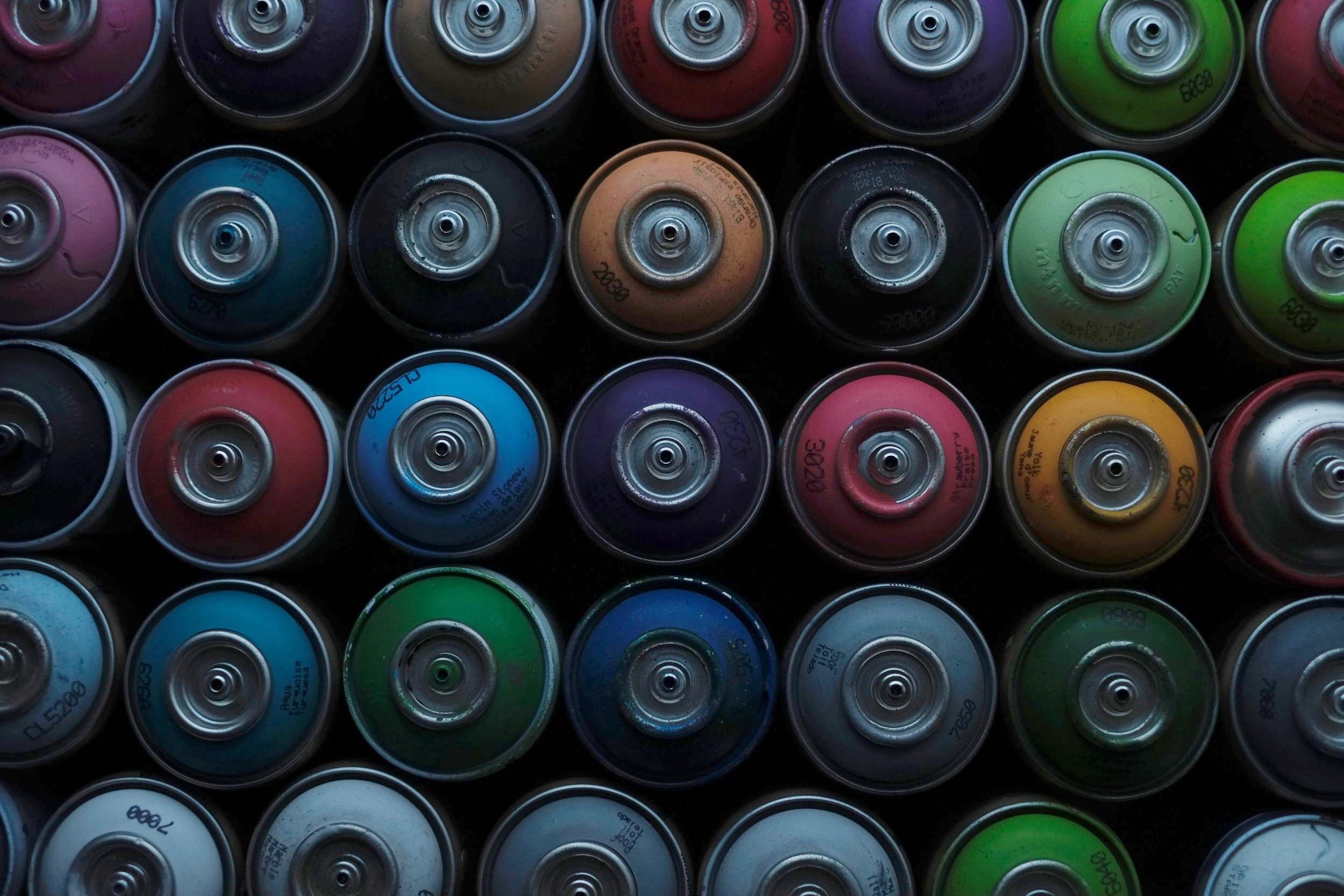 Spray Paint Cans Ayrshire Graffiti Artist Tragic O'Hara