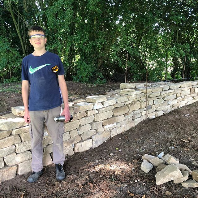 Fun weekend away with my eldest learning dry stone walling