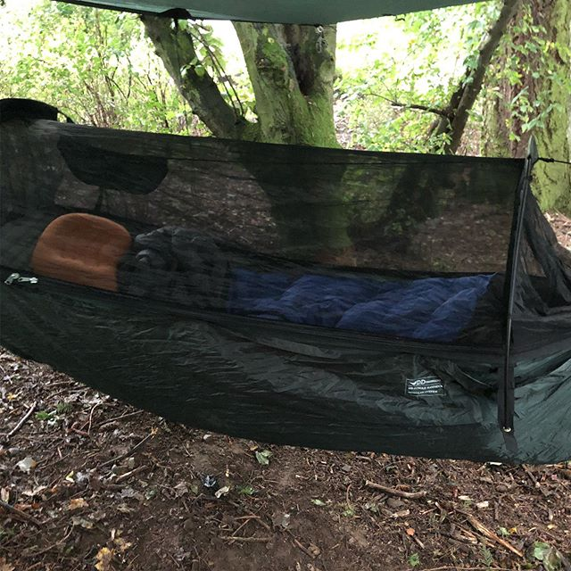 Another night under tarps and this time it's pouring down. Testing out the thermorest xtherm to the limits
