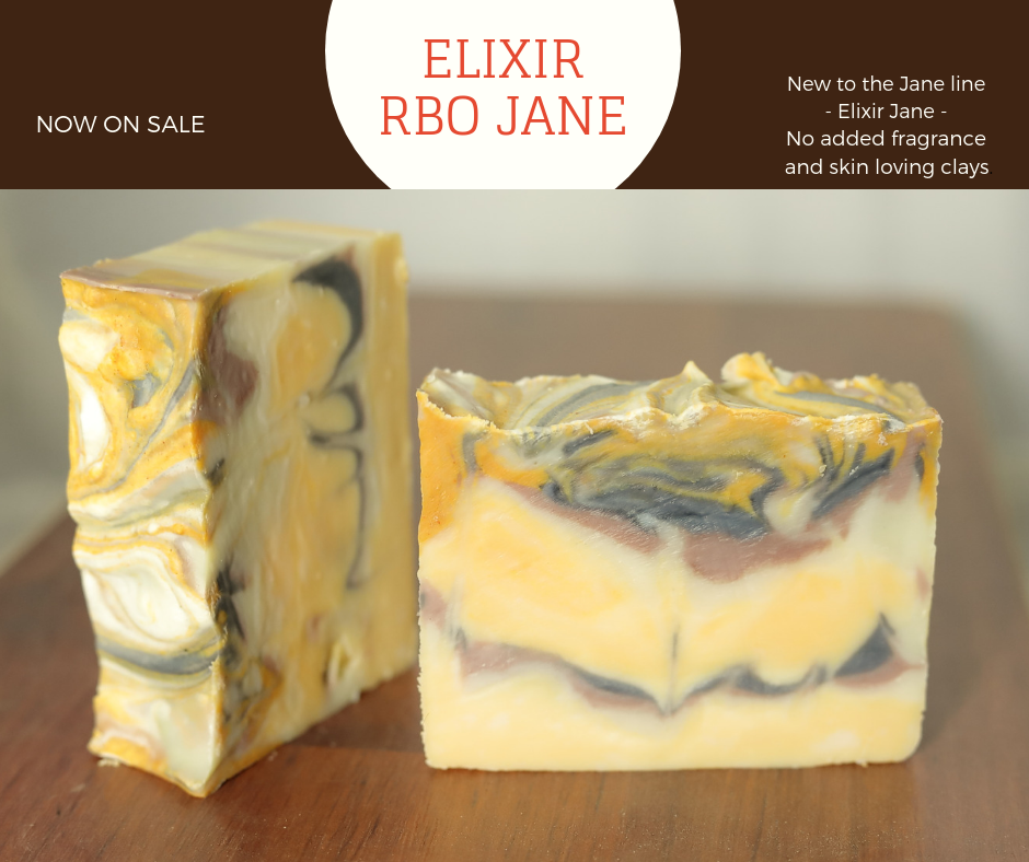 Pectolite, LLC - Rice Bran Oil Soap - Elixir. Beautiful coconut-free clay soap.