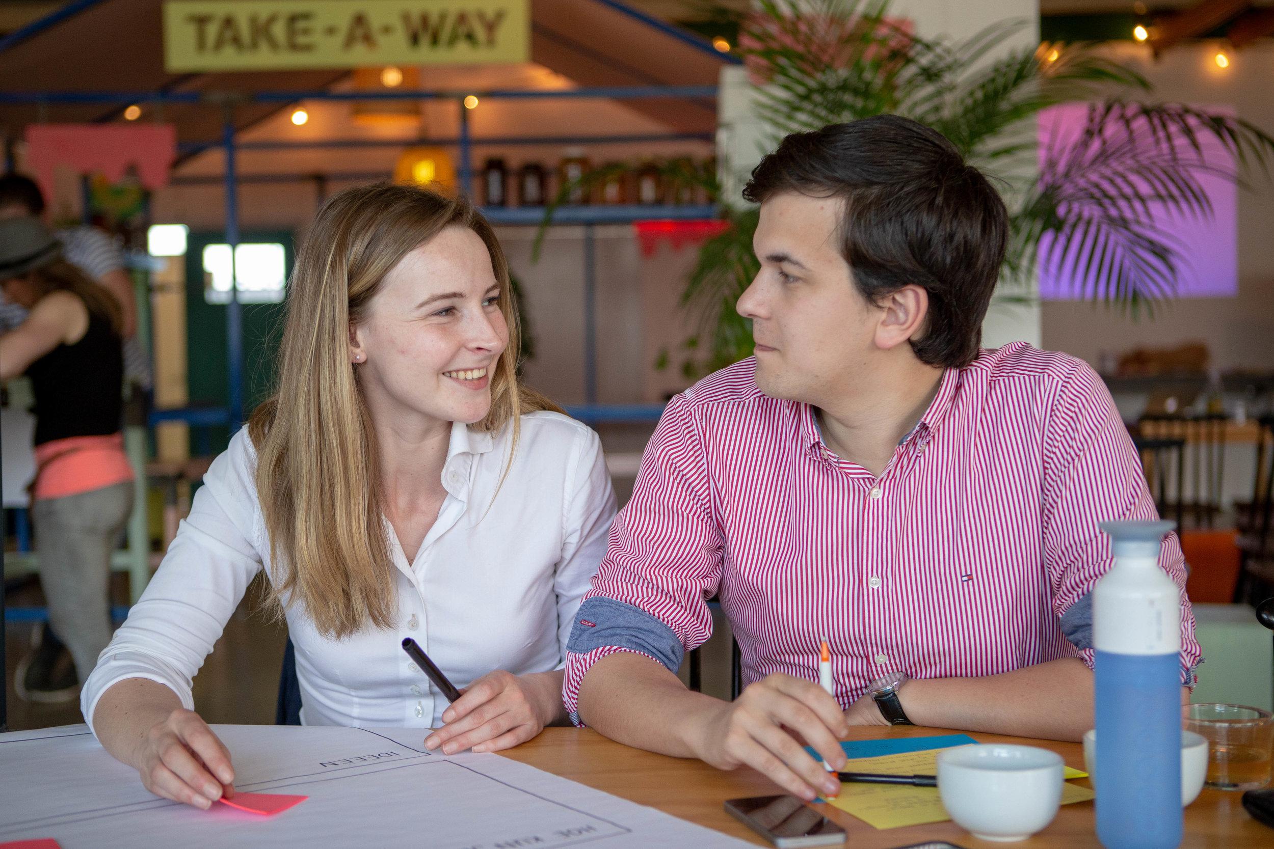 Boer Iris Bouwers en haar vriend Lorenzo.