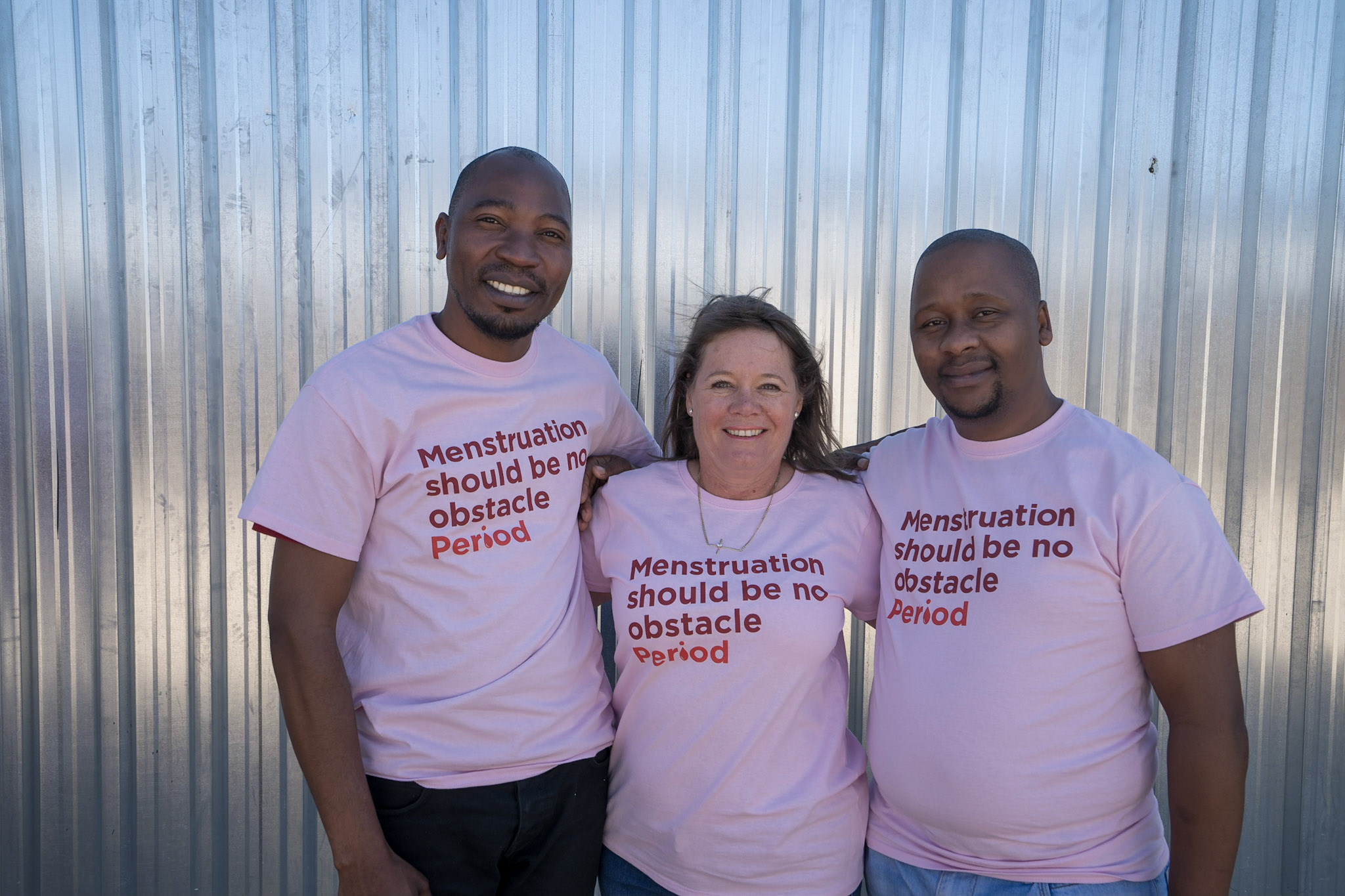 Taps M'nyati Sonke Gender Justice, Susan Barnes Project Dignity, Thulani Velebayi Sonke Gender Justice.