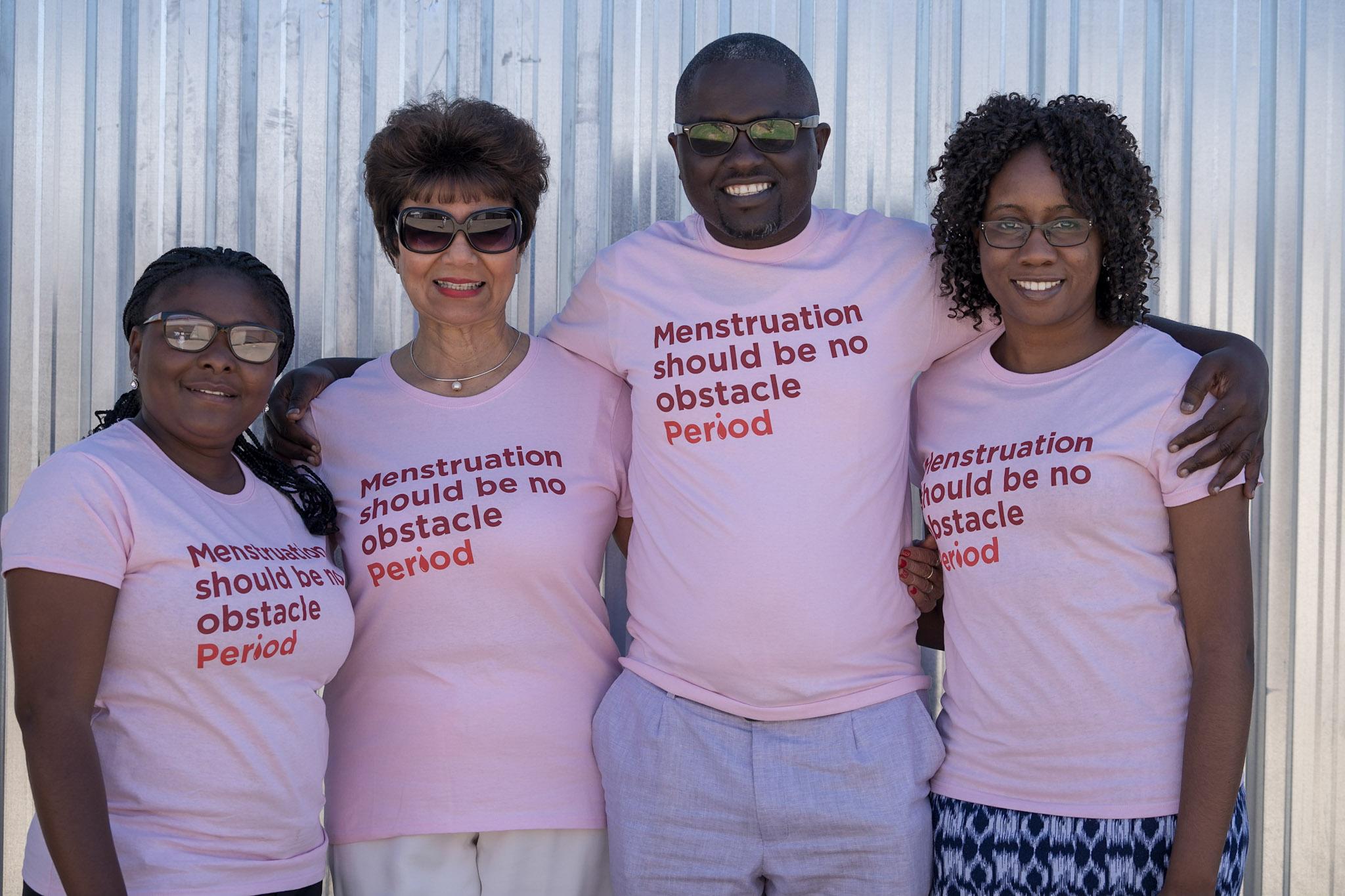 Women's Action for Development. MPIA project assistant Wilka Matheus, Veronica de Klerk MPIA ambassador, Director of WAD Salatiel Shinedima and MPIA project manager Tatiana Sikwila.