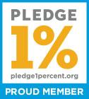 Pledge 1% proud member icon