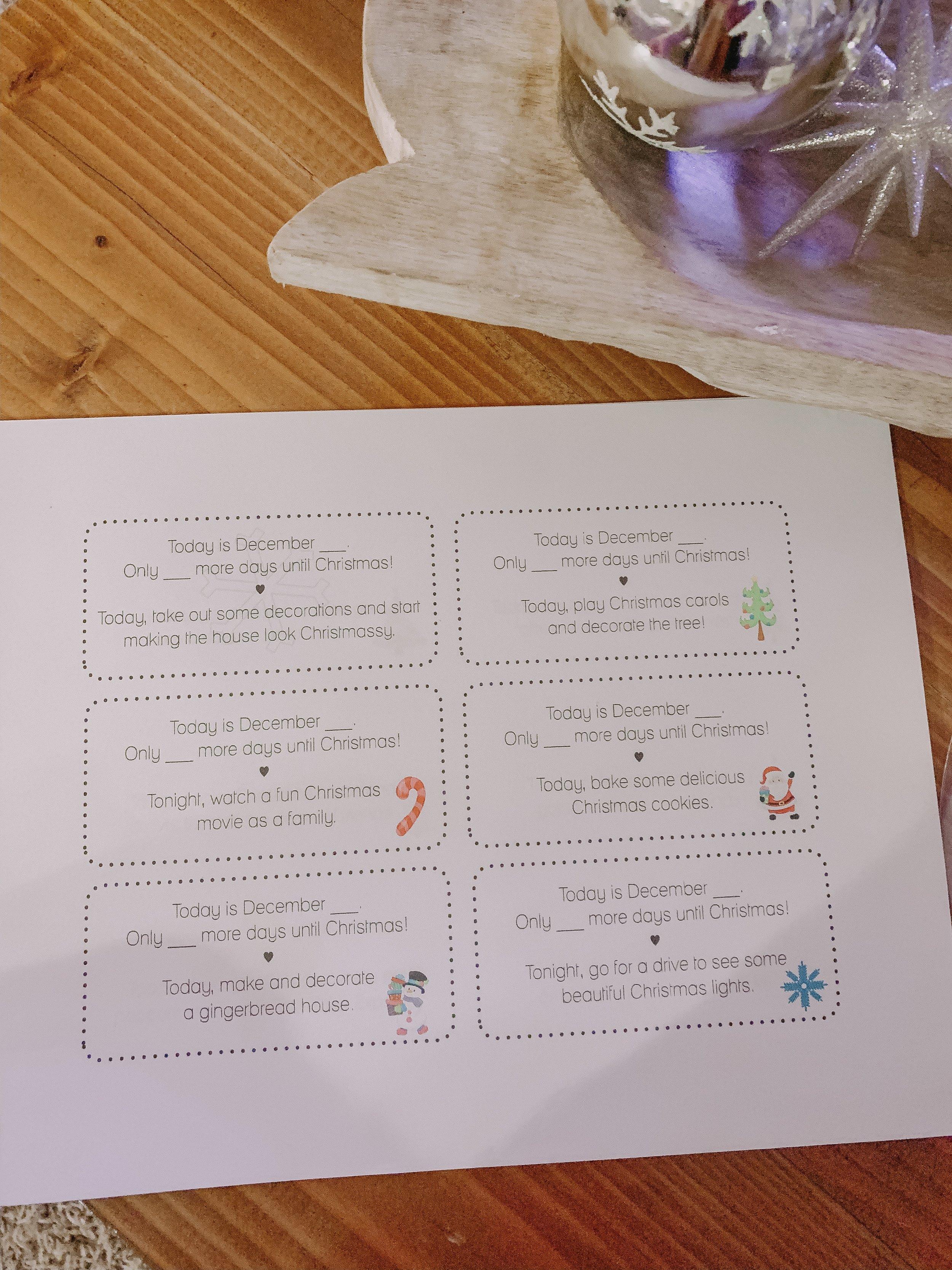 Farmulosity advent tree cards