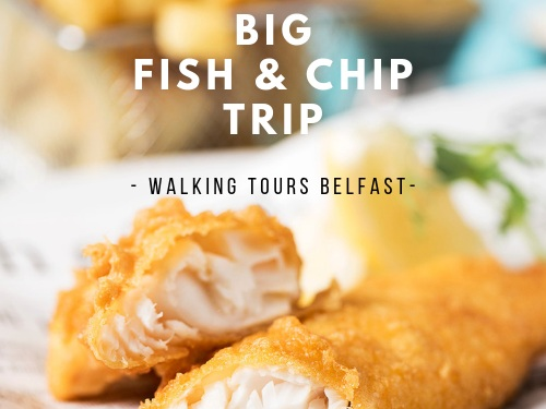3. Big Fish & Chip Trip - Private Tour - NEW WALKING TOUR - Highlights of Belfast plus Pub stop to sample Guinness and end tour with Award Winning Fish & Chip Lunch plus wine or beer.5 Stars, Interesting & authentic- would definitely do another. Liz Airbnb