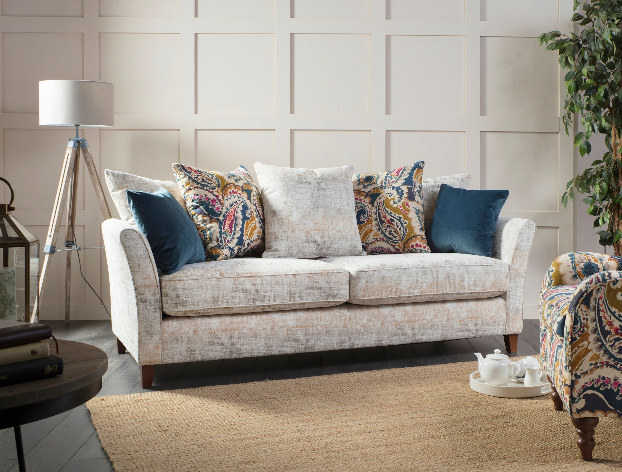 The Lily   Extra Large: 208(W) 98(D) 92(H)  Large Sofa: 188(W) 98(D) 92(H)  Midi Sofa: 164(W) 98(D) 92(H)  Petit Sofa: 145(W) 98(D) 92(H)  Chair: 91(W) 98(D) 92(H)   Sofa prices from: £585