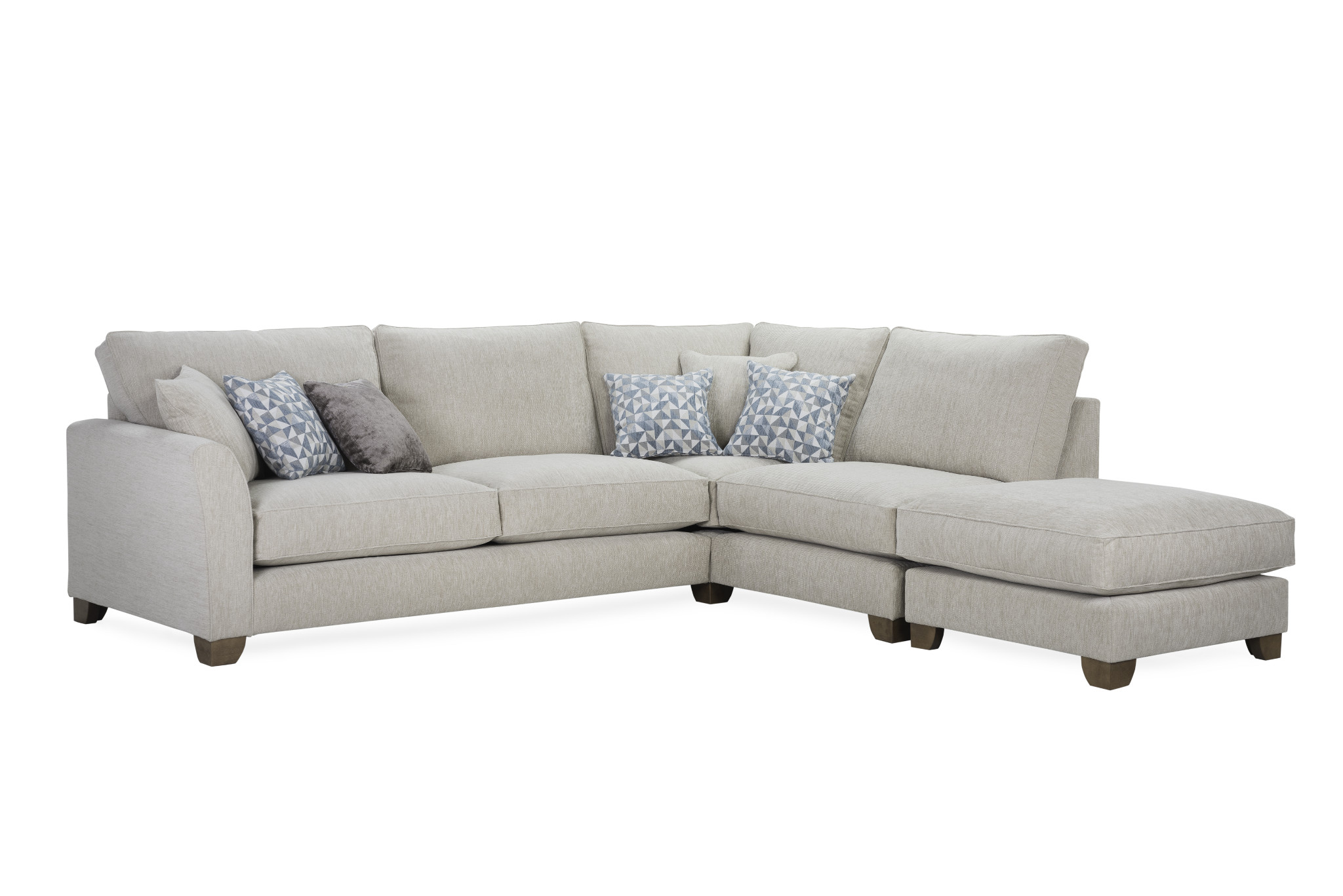 The Dorset   Modular sofa with wide variety of sizes  Shown Sofa: 285(W)184(D) 96 (H)   Prices from £1295