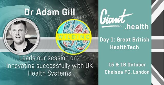 Super excited to be leading a panel @giant.health 2019 and I'm taking part in the GB HealthTech on 15th October session.  Check out the agenda at www.giant.health