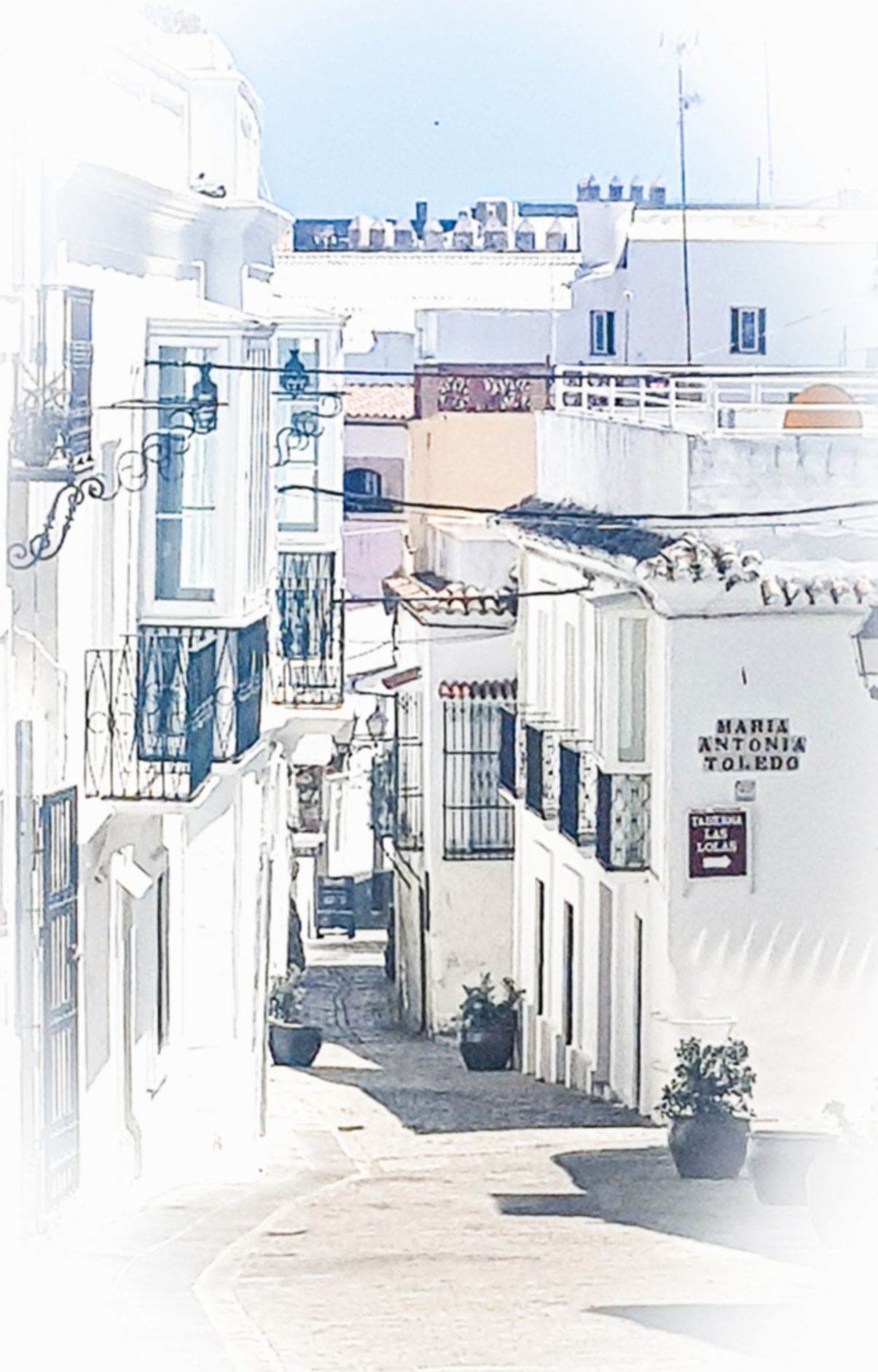 Whitewashed Street in Tarifa Old Town