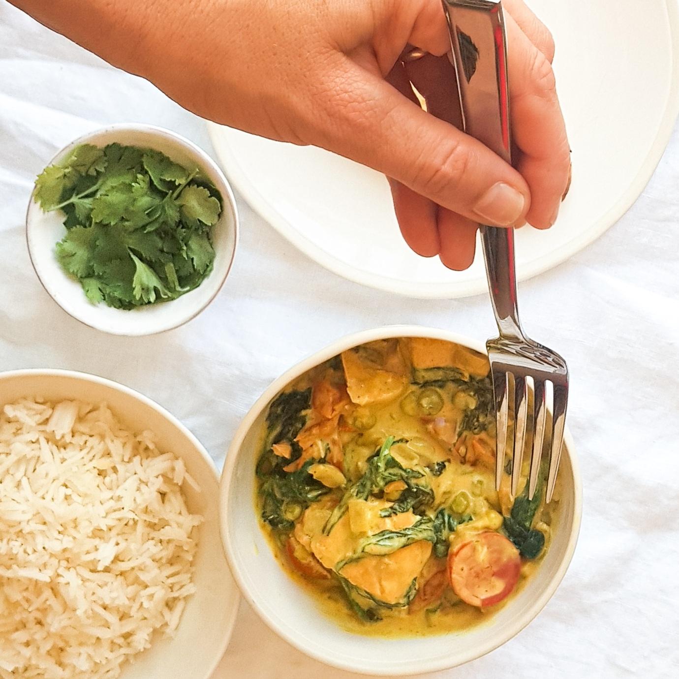 Coconut Salmon Curry Recipe