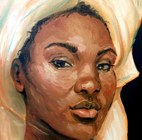 Towel Head, 13x19, oil on canvas