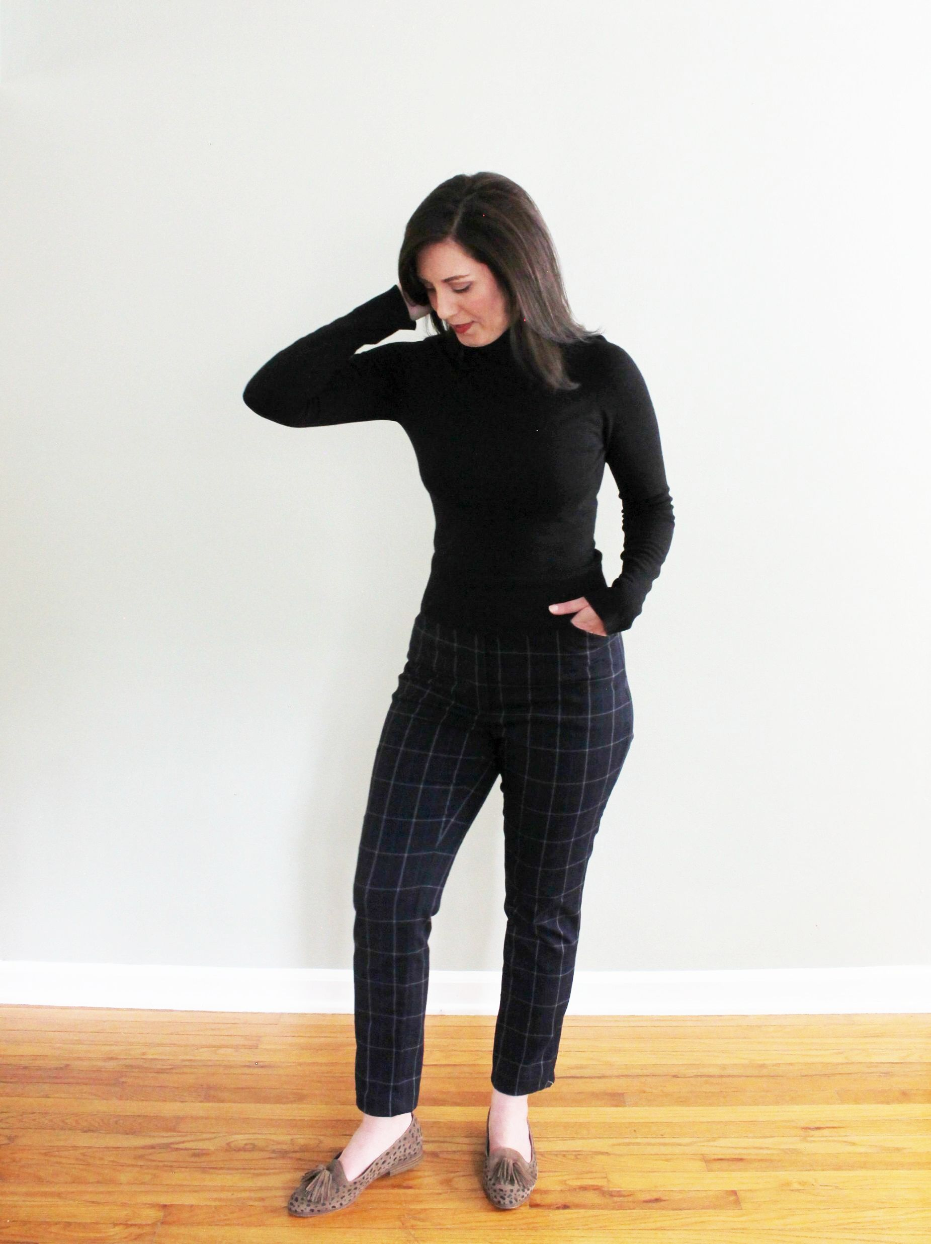 Sasha Trousers with an old RTW turtleneck that I've had for more than 10 years!