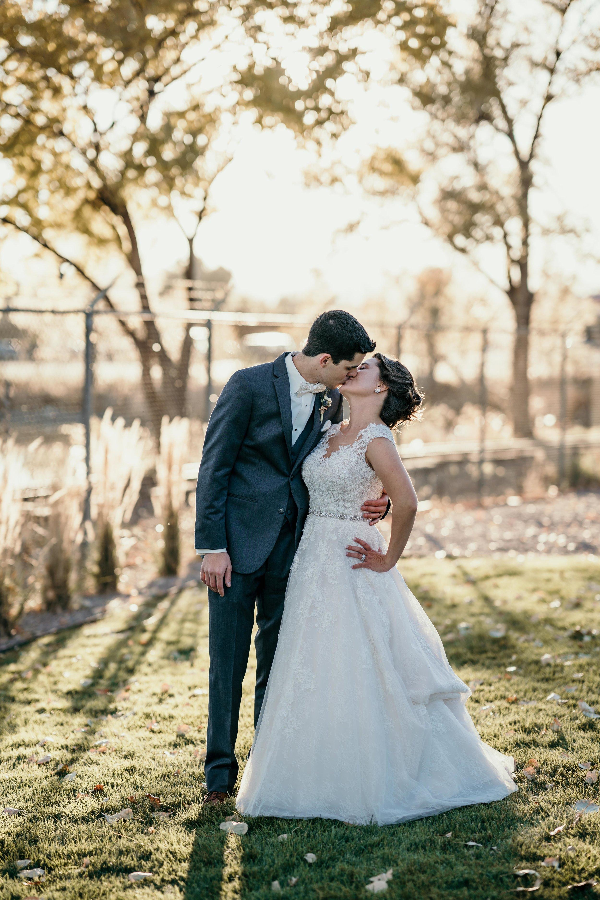 denver wedding portrait at golden hour