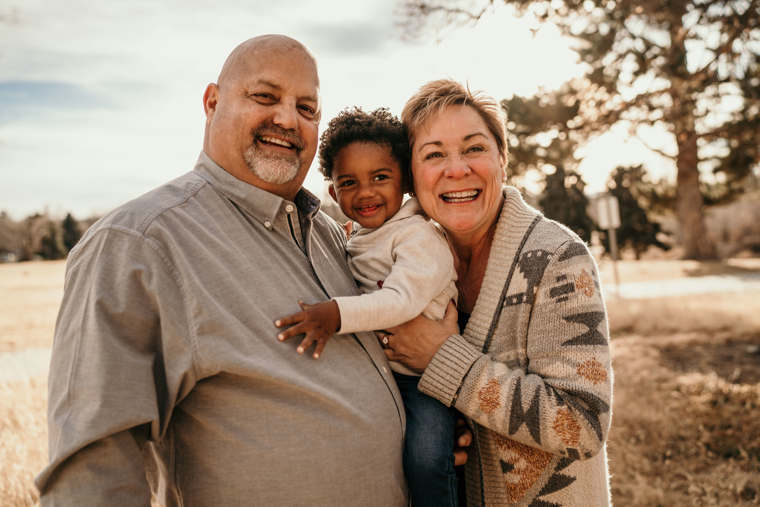 denver family photographers at city park baby with grandparents