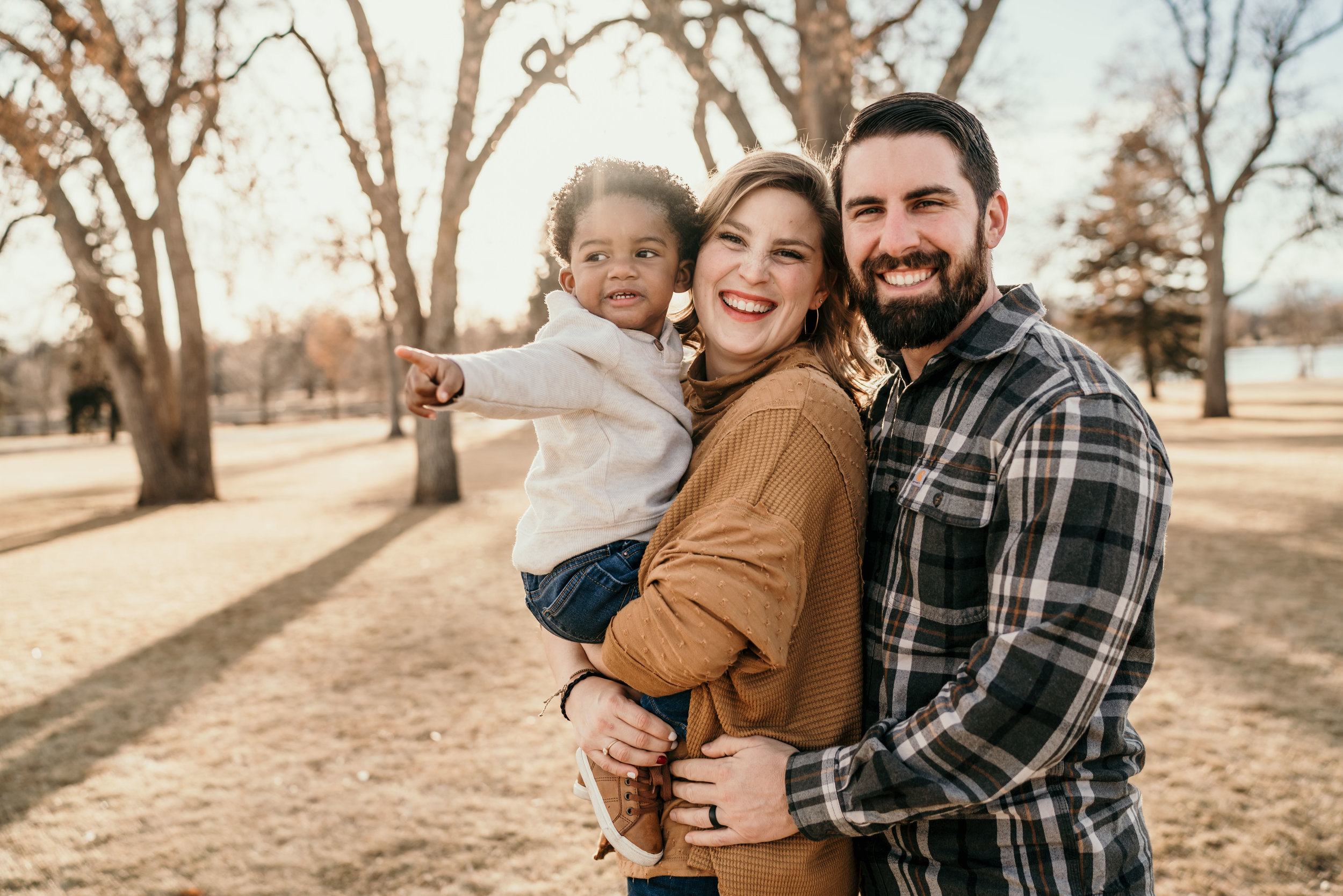 denver family photographers at city park small family with baby